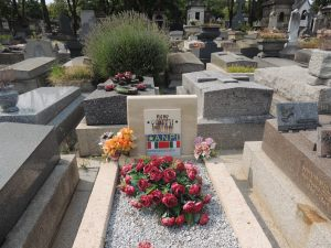 The grave of Piero Gobetti, in Pere Lachaise cemetery in Paris